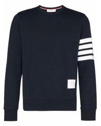 Thom Browne Blue Bar Striped Sleeve Sweatshirt for men