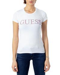 Guess White Cotton T-shirt