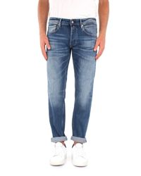 Replay Blue Cotton Jeans for men