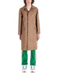 Gucci BRAUN BAUMWOLLE MANTEL in Brown für Herren