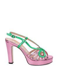 Gucci Pink LEDER SANDALEN
