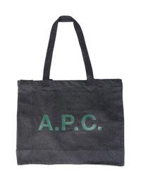 A.P.C. Black BAUMWOLLE TOTE