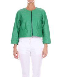Zoe Green Leather Outerwear Jacket