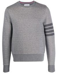Thom Browne Gray Cotton Sweatshirt for men