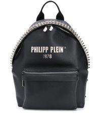 Philipp Plein SCHWARZ LEDER RUCKSACK in Black für Herren