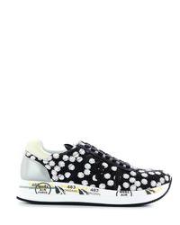 Premiata Black Fabric Sneakers