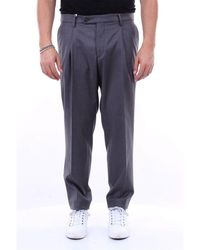 Michael Coal Gray Polyester Pants for men
