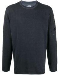 C P Company Blue Cotton Sweater for men