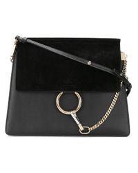 Chloé Black Leather Shoulder Bag