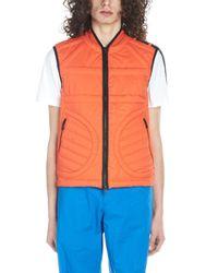 Moncler Red Cotton Vest for men