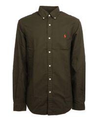 Ralph Lauren Green Cotton Shirt for men
