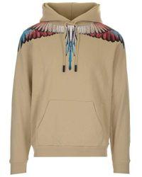 Marcelo Burlon Natural Cotton Sweatshirt for men