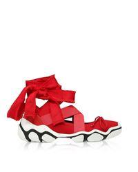 RED Valentino Red Polyamide Flats