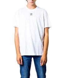 Adidas White Cotton T-shirt for men