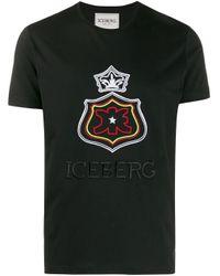 COTONE NERO di Iceberg in Black da Uomo