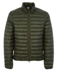 Aspesi Green Polyester Down Jacket for men