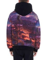 Marcelo Burlon MULTICOLOUR SWEATSHIRT in Purple für Herren