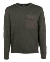 A.P.C. Green Wool Sweater for men
