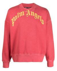 Palm Angels Red Sweatshirt for men