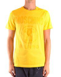 Moschino GELB BAUMWOLLE T-SHIRT in Yellow für Herren