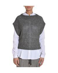 Eleventy Gray Grey Linen Jumper