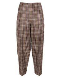 Victoria Beckham Natural Wool Pants