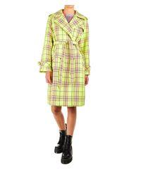 Manila Grace Yellow Polyester Trench Coat