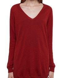 Rick Owens Red Cashmere Sweater