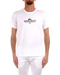 Woolrich White T-shirt for men