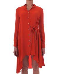 Manila Grace Orange Red Viscose Dress