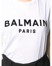 Balmain White BAUMWOLLE T-SHIRT