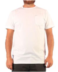 Sun 68 White Cotton T-shirt for men