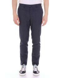 Incotex Blue Cotton Pants for men