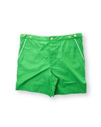 Eleventy Green Polyester Boxer for men