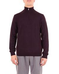 Heritage Purple Wool Sweater for men