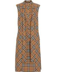 Burberry Natural Beige Cotton Dress