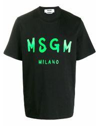 MSGM SCHWARZ T-SHIRT in Black für Herren