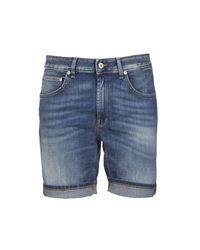 Dondup Blue Cotton Shorts for men