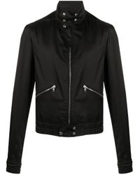 Rick Owens Black Viscose Outerwear Jacket for men