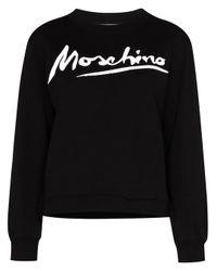 Moschino Black BAUMWOLLE SWEATSHIRT