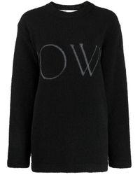 Off-White c/o Virgil Abloh Black Oversize-Sweatshirt