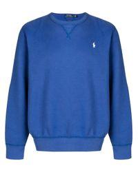 Ralph Lauren Blue Cotton Sweatshirt for men