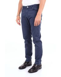 PANTALONI GEORGE2595 COTONE di Michael Coal in Blue da Uomo