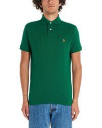 Ralph Lauren Green Cotton Polo Shirt for men