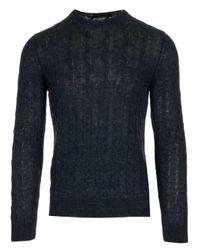 Tagliatore Blue Linen Sweater for men