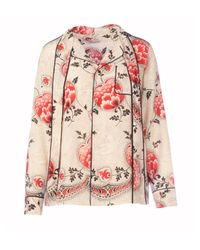 RED Valentino Pink Silk Blouse