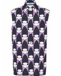 Prada Purple BAUMWOLLE HEMD