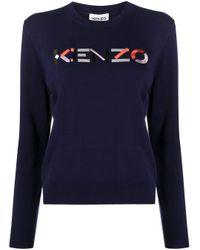 KENZO Blue BAUMWOLLE SWEATER