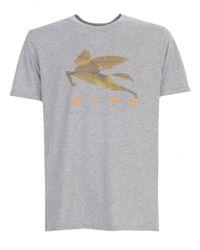Etro BAUMWOLLE T-SHIRT in Gray für Herren