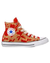 Converse Red MULTICOLOR STOFF HI TOP TURNSCHUHE